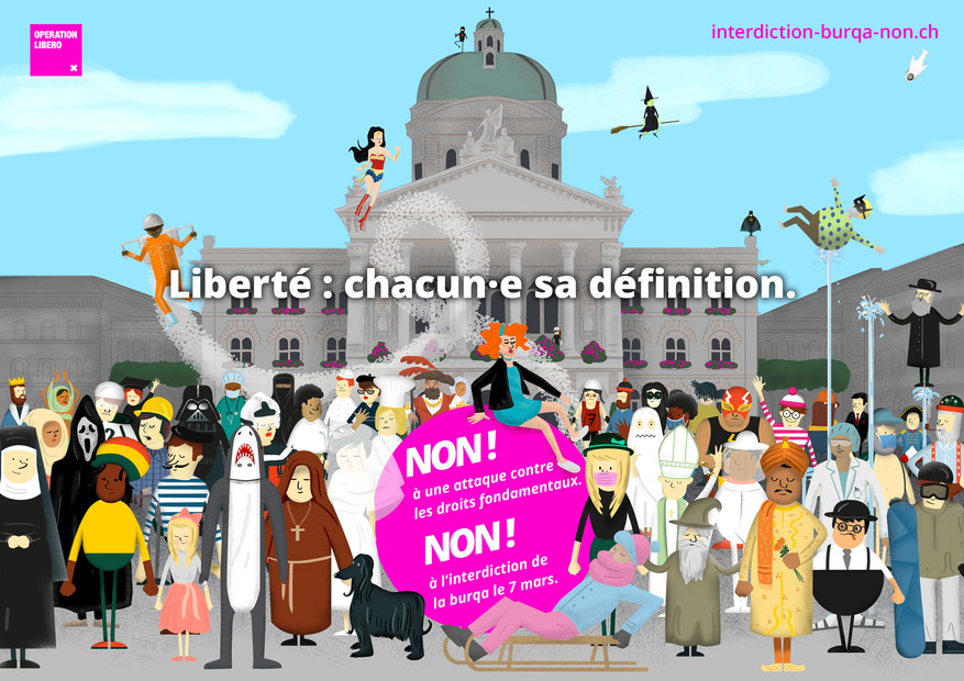 Operation Libero Interdiction Burqa Visuel
